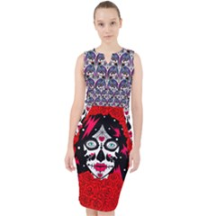 Sugarskull Day Of The Dead Midi Bodycon Dress