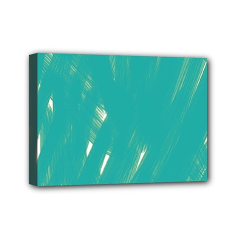 Background Green Abstract Mini Canvas 7  X 5