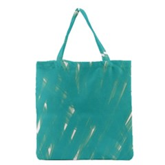 Background Green Abstract Grocery Tote Bag