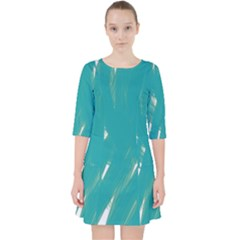 Background Green Abstract Pocket Dress