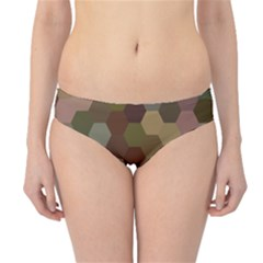 Brown Background Layout Polygon Hipster Bikini Bottoms