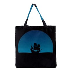 Ship Night Sailing Water Sea Sky Grocery Tote Bag by Nexatart