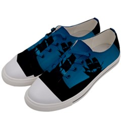 Ship Night Sailing Water Sea Sky Men s Low Top Canvas Sneakers by Nexatart