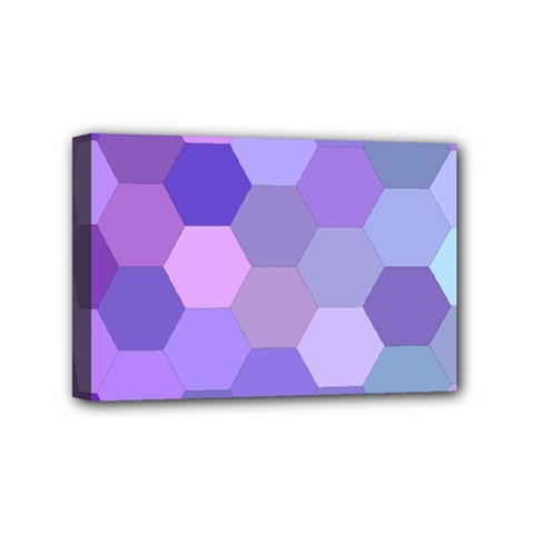 Purple Hexagon Background Cell Mini Canvas 6  X 4  by Nexatart