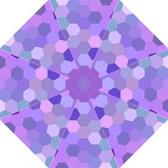 Purple Hexagon Background Cell Golf Umbrellas by Nexatart