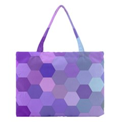 Purple Hexagon Background Cell Medium Tote Bag by Nexatart