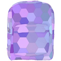 Purple Hexagon Background Cell Full Print Backpack by Nexatart