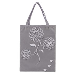 Flower Heart Plant Symbol Love Classic Tote Bag