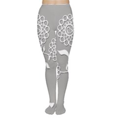 Flower Heart Plant Symbol Love Women s Tights
