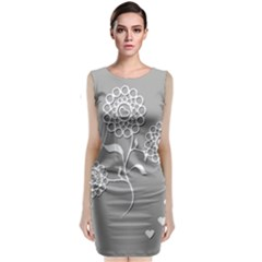 Flower Heart Plant Symbol Love Classic Sleeveless Midi Dress