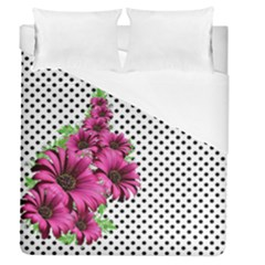 Daisy Flowers Polka Dots Pattern Duvet Cover (queen Size)