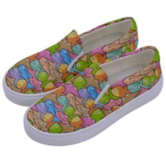 Fishes Cartoon Kids  Canvas Slip Ons by sifis