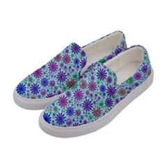 Lovely Shapes 3b Women s Canvas Slip Ons by MoreColorsinLife
