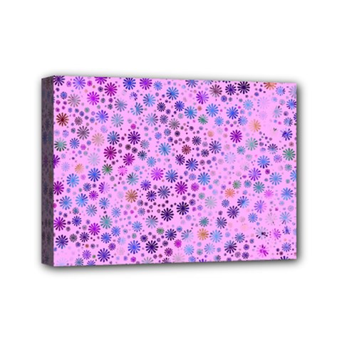 Lovely Shapes 4c Mini Canvas 7  X 5  by MoreColorsinLife