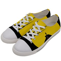 Man Mountain Moon Yellow Sky Men s Low Top Canvas Sneakers by Nexatart