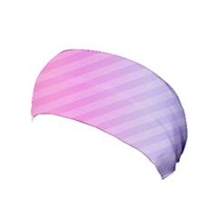 Diagonal Pink Stripe Gradient Yoga Headband