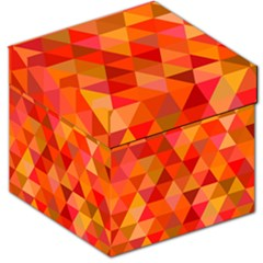 Red Hot Triangle Tile Mosaic Storage Stool 12   by Nexatart
