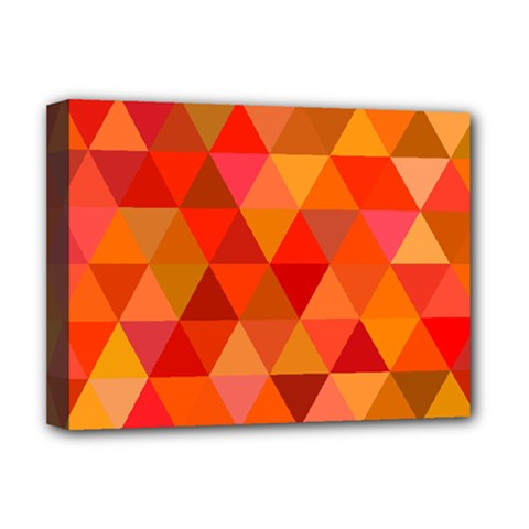 Red Hot Triangle Tile Mosaic Deluxe Canvas 16  X 12   by Nexatart