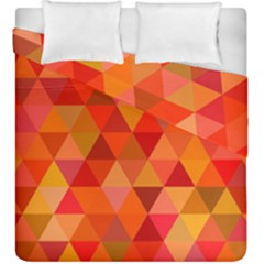 Red Hot Triangle Tile Mosaic Duvet Cover Double Side (king Size)