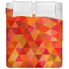 Red Hot Triangle Tile Mosaic Duvet Cover Double Side (california King Size) by Nexatart
