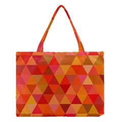 Red Hot Triangle Tile Mosaic Medium Tote Bag by Nexatart