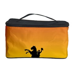 Horse Cowboy Sunset Western Riding Cosmetic Storage Case by Nexatart