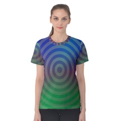 Blue Green Abstract Background Women s Cotton Tee