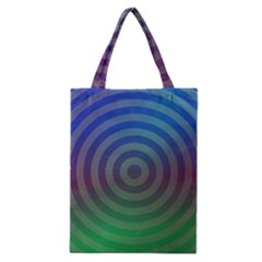 Blue Green Abstract Background Classic Tote Bag by Nexatart