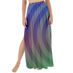 Blue Green Abstract Background Maxi Chiffon Tie Up Sarong