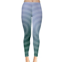 Teal Background Concentric Leggings