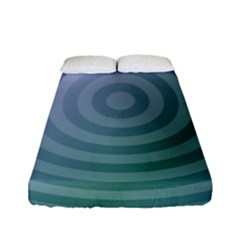 Teal Background Concentric Fitted Sheet (full/ Double Size)