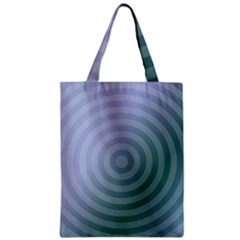 Teal Background Concentric Zipper Classic Tote Bag by Nexatart