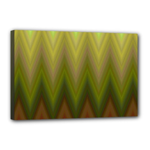 Zig Zag Chevron Classic Pattern Canvas 18  X 12