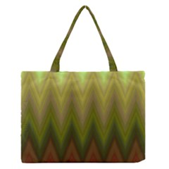 Zig Zag Chevron Classic Pattern Zipper Medium Tote Bag by Nexatart