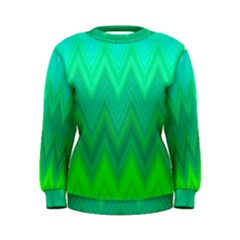 Green Zig Zag Chevron Classic Pattern Women s Sweatshirt