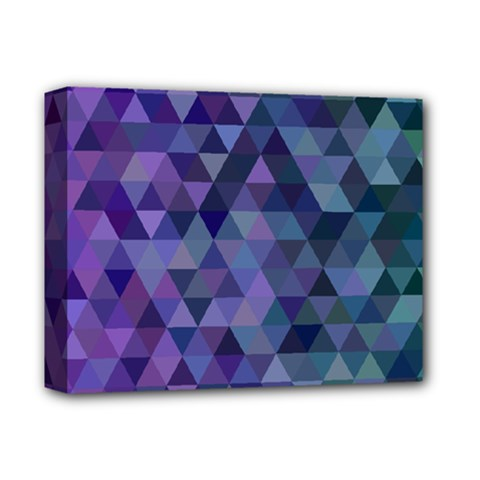 Triangle Tile Mosaic Pattern Deluxe Canvas 14  X 11  by Nexatart