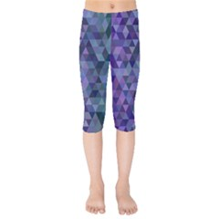 Triangle Tile Mosaic Pattern Kids  Capri Leggings