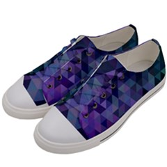 Triangle Tile Mosaic Pattern Women s Low Top Canvas Sneakers by Nexatart