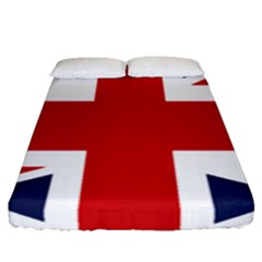 Uk Flag United Kingdom Fitted Sheet (queen Size) by Nexatart
