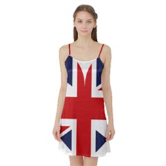 Uk Flag United Kingdom Satin Night Slip