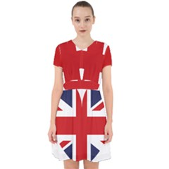 Uk Flag United Kingdom Adorable In Chiffon Dress