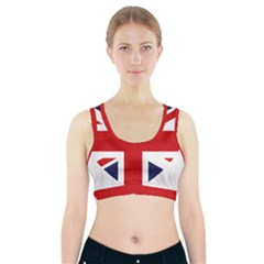 Uk Flag United Kingdom Sports Bra With Pocket by Nexatart