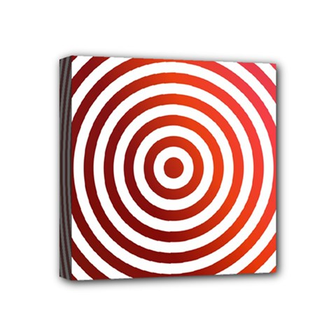Concentric Red Rings Background Mini Canvas 4  X 4  by Nexatart
