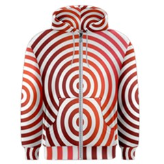 Concentric Red Rings Background Men s Zipper Hoodie
