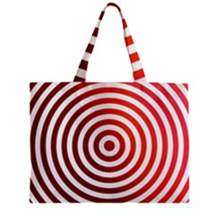 Concentric Red Rings Background Zipper Mini Tote Bag by Nexatart
