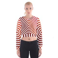 Concentric Red Rings Background Cropped Sweatshirt