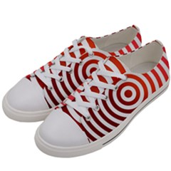 Concentric Red Rings Background Men s Low Top Canvas Sneakers by Nexatart