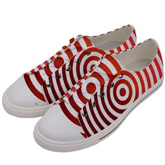 Concentric Red Rings Background Women s Low Top Canvas Sneakers by Nexatart