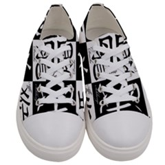 Chinese Signs Of The Zodiac Men s Low Top Canvas Sneakers