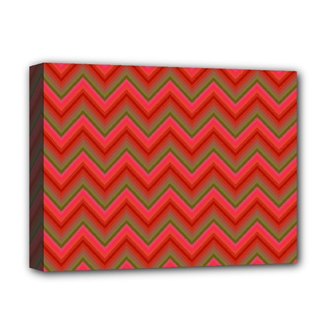Background Retro Red Zigzag Deluxe Canvas 16  X 12